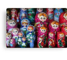 Matrioshka, russian set of dolls Canvas Print