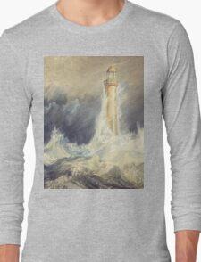 Bell Rock Lighthouse by JMW Turner Long Sleeve T-Shirt