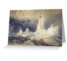 Bell Rock Lighthouse by JMW Turner Greeting Card