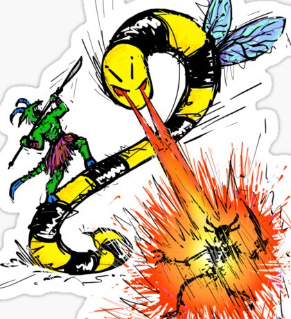 Wrath of the Beeworm! Sticker