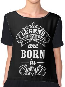 Legends Born In January Chiffon Top