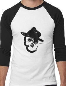 Skull with Fedora #2 Men's Baseball ¾ T-Shirt