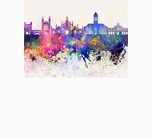 Cambridge skyline in watercolor background Unisex T-Shirt