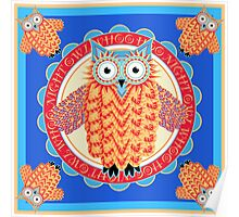 Colorful Night Owl Poster