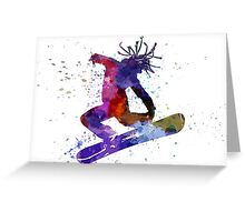 young snowboarder Greeting Card