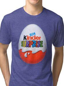 Kinder Surprise Chocolate Egg Tri-blend T-Shirt
