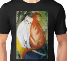 Two Cats Red and White by Franz Marc Unisex T-Shirt