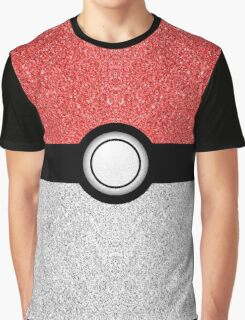 Sparkly red and silver sparkles poke ball Graphic T-Shirt