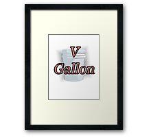 Five Gallon Framed Print