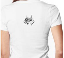 Majora's Mask (Black) Womens Fitted T-Shirt