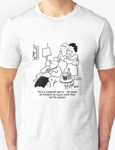 Injury with a bottle-opener Unisex T-Shirt