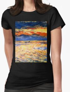 Sunset by Renoir Womens Fitted T-Shirt