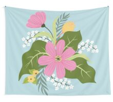 Blooming colorfull composition Wall Tapestry