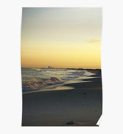 Atlantic City Skyline, Holgate LBI NJ Poster