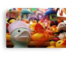 Flock Of Ducks: 02 Canvas Print