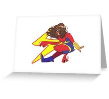 Miss Marvel Greeting Card