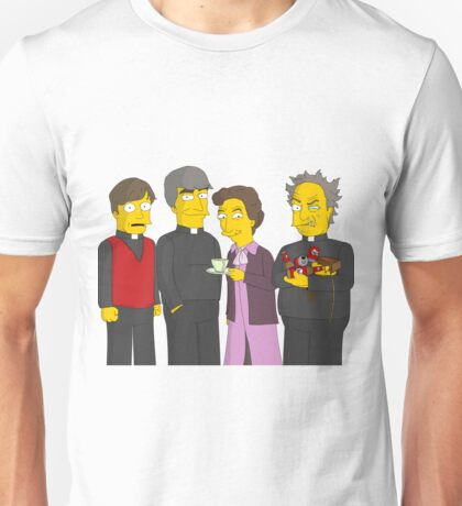 Father Ted - Simpsons Style! Unisex T-Shirt