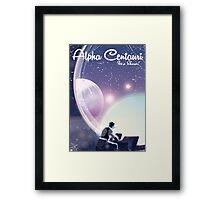 Alpha Centurai, Its a show, space travel poster  Framed Print