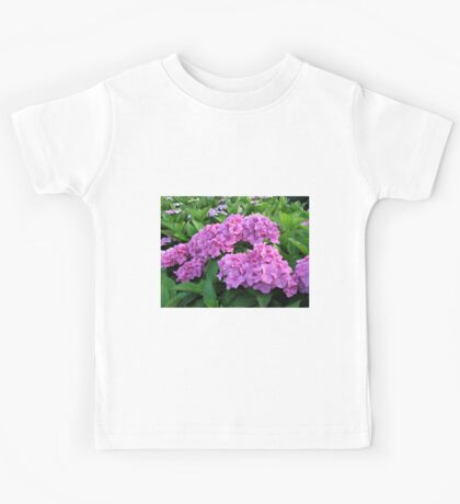 Vibrant Pink Hydrangea Blossoms  Kids Tee