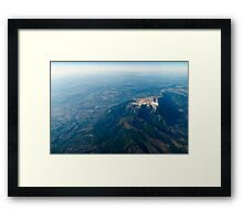 High Altitude Photo Of Planet Earth Horizon Framed Print