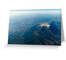 High Altitude Photo Of Planet Earth Horizon Greeting Card