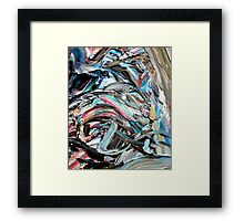 Marble Red Green Blue Abstract Painting Framed Print