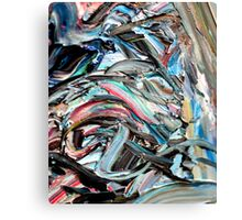 Marble Red Green Blue Abstract Painting Canvas Print