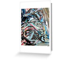 Marble Red Green Blue Abstract Painting Greeting Card