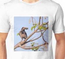 Hooded crow (Corvus cornix) with a mouse Unisex T-Shirt