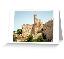 David Tower in the old city of Jerusalem, Israel Greeting Card