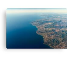 High Altitude Photo Of Planet Earth Horizon Canvas Print