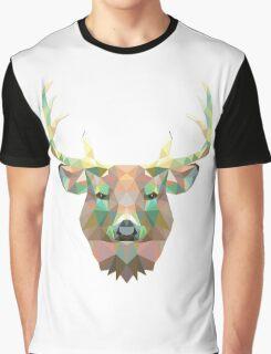 Polygonal Deer Graphic T-Shirt