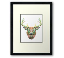 Polygonal Deer Framed Print
