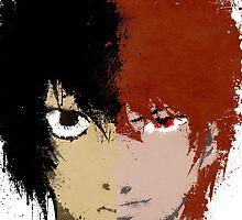 Death Note L vs Light by Divya Tak