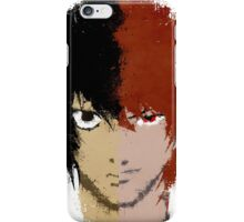 Death Note L vs Light iPhone Case/Skin