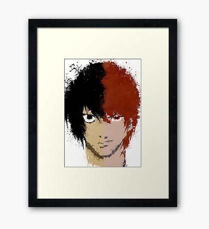 Death Note L vs Light Framed Print