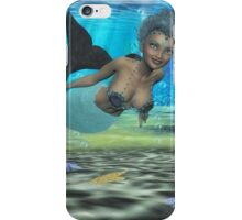 Swimming With The Dolphin's iPhone Case/Skin