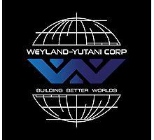 Weyland Yutani - Building Worlds Gradient Logo Photographic Print