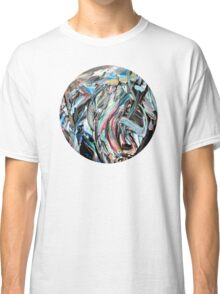 Marble Red Green Blue Abstract Painting Classic T-Shirt