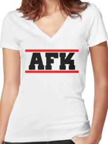Afk Women's Fitted V-Neck T-Shirt