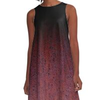 Red Brown and Black Rust Metal Patina A-Line Dress