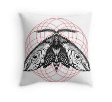 Death Head Moth Throw Pillow