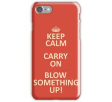 Keep Calm, Destroy! iPhone Case/Skin