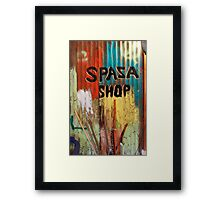 Spaza Shop Sign Framed Print