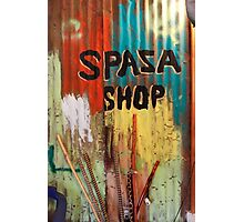 Spaza Shop Sign Photographic Print