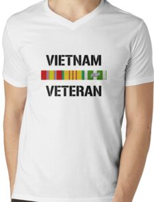 Vietnam Veteran Ribbon Bar Mens V-Neck T-Shirt