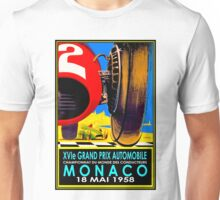 """MONACO GRAND PRIX"" Vintage Auto Racing Advertising Print Unisex T-Shirt"