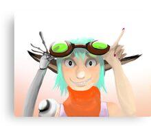Green Goggles  Canvas Print
