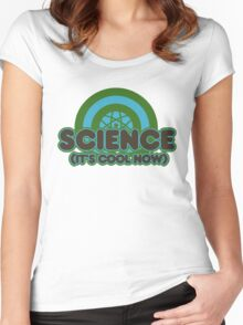 Science it's cool now Women's Fitted Scoop T-Shirt