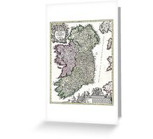 Ireland - Geographicus Ireland - Homann - 1716 Greeting Card